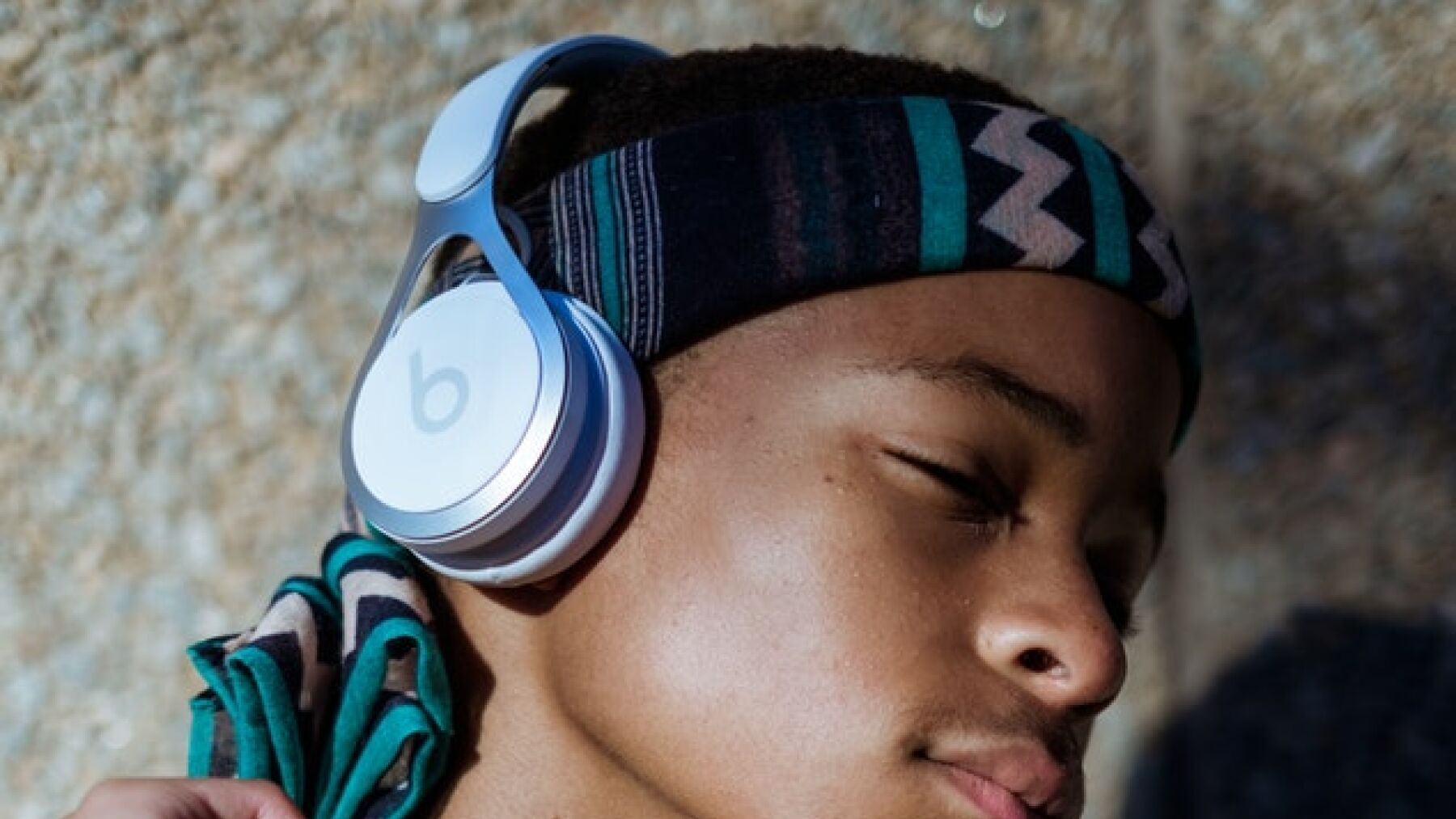 Picture of young black boy listening to music with eyes closed, Credit: Mpemelelo Macu via Picnoi
