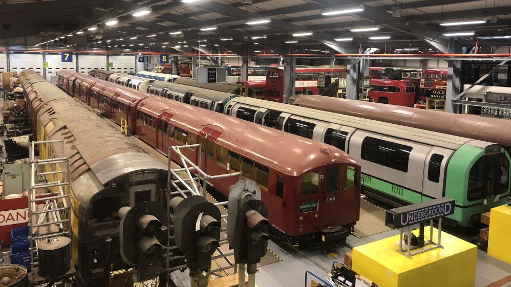 Behind the scenes at the depot with the vintage vehicles that make up the London Transport Museum's collection