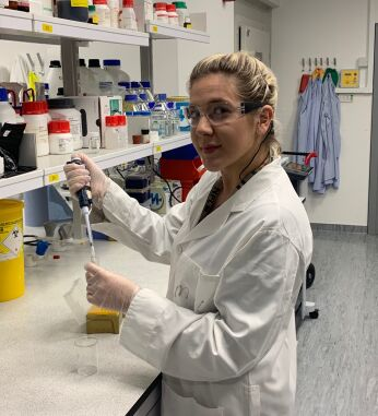 Jess, a laboratory technician at KCL university