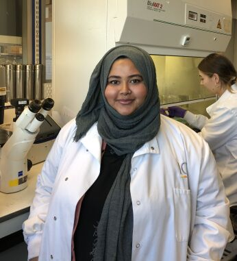 Nafia, Scientific Officer at the Institute of Cancer Research