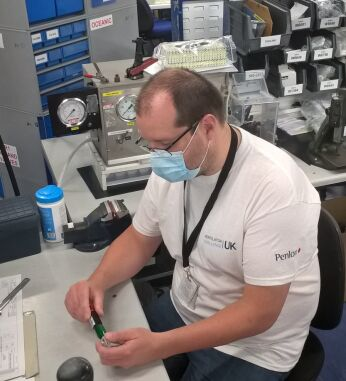 Steve, a technician working on the Ventilator Challenge at Smiths